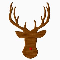 Rudolph Embroidery $1.50 - Piece N Quilt