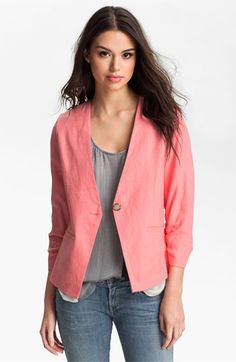 The blazer.  Pair it with a peplum top for a day at the office. Throw it over a graphic tee for weekend errands. Toss it on to polish up your denim for an evening out.