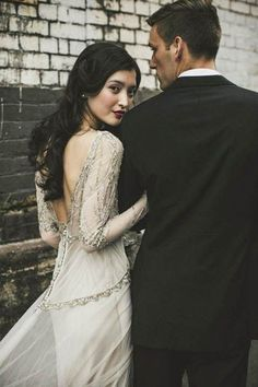 Wedding Poses Best wedding dresses 2016 - Gwendolynne beaded dress - 2016 was the year for modern wedding dresses with simple silhouettes and sophisticated embellishments. We've rounded up this year's best in bridal fashion. Vintage Wedding Photography, Wedding Photography Poses, Wedding Photography Inspiration, Wedding Poses, Wedding Couples, Editorial Photography, Photography Ideas, Wedding Shoot, Wedding Themes