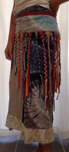 d3f2b64f20a15 CUSTOM ORDER Upcycled maxi wrap skirt by StarfawnClothing. Starfawn Clothing