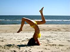clearing the mind.. beach yoga