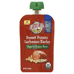 Earth's Best Organic Stage 2, Sweet Potato, Garbanzo & Barley, 3.5 Ounce Pouch (Pack of 12) >>> Read more  at the image link.