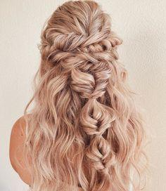 Boho Bridesmaid Hair, Boho Wedding Hair, Bridesmaids, Boho Hairstyles, Wedding Hairstyles, Stylish Hairstyles, Wedding Hair And Makeup, Hair Makeup, Wedding Hair Inspiration