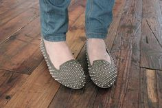 studded ballet flats an easy craft from the store and easy to make DIY