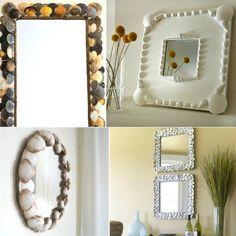 1001 Seashell Crafts - Coastal Decor Ideas and Interior Design Inspiration Images Seashell Frame, Seashell Art, Seashell Crafts, Beach Crafts, Seashell Wreath, Diy Crafts, Oyster Shell Crafts, Glass Garden Art, Dollar Tree Crafts