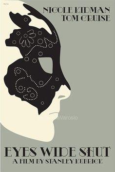 Eyes Wide Shut (1999) - Minimal Movie Poster by Claudia Varosio #minimalmovieposter #alternativemovieposter #90smovies #claudiavarosio