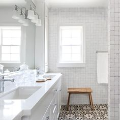 """weathered white mounted 2""""x2"""" Cle Tile"""