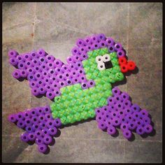 Embroidered Perler Bead Bird by AshleyEGlidewell on Etsy