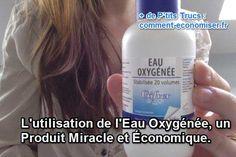 L'eau oxygénée a le même aspect que l'eau en étant légèrement plus visqueuse. Elle est incolore et possède des propriétés oxydantes. Elle va donc être utilisée pour blanchir les dents, le linge mais aussi comme décolorant ou encore en tant que désinfectant.  Découvrez l'astuce ici : http://www.comment-economiser.fr/utilisation-de-l-eau-oxygenee.html?utm_content=buffer3f646&utm_medium=social&utm_source=pinterest.com&utm_campaign=buffer