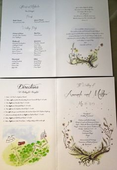 Custom+Watercolor+Floral+Wedding+Program+with+by+EdensInvites,+$400.00