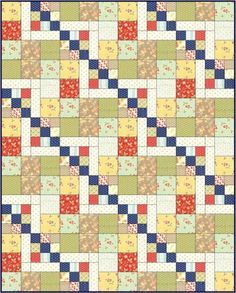 I've made the Cedars of Lebanon quilt using 2 different blocks ...