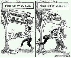 First day of high school vs first day of college...