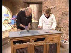 Beton Cire à faire soit même et appliqué directement sur une ancienne vasque Extrait de l'emission Coté Maison avec Robert Longechal & Laetitia Nallet - Fran...