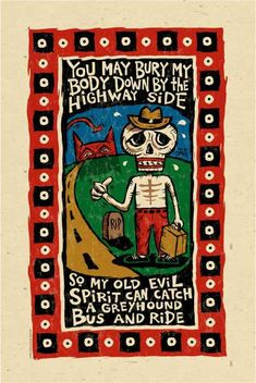 Awesome Blues Music Folk Art poster signed by Grego  by MojohandBlues, $10.00