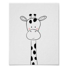 Shop Giraffe Nursery Print Black and white modern zoo created by Anietillustration. Farm Animal Nursery, Giraffe Nursery, Nursery Prints, Nursery Wall Art, Nursery Decor, Wall Decor, Project Nursery, Nursery Ideas, Cute Little Drawings