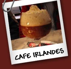 Irish Coffee Ingredientes: • Whisky irlandes 3/9. • Cafe 3/9. • Nata 3/9. •
