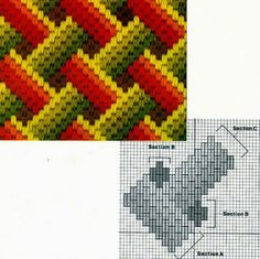 "Lovely heart things: Bargello: ""Until a few interesting schemes"" Broderie Bargello, Bargello Needlepoint, Bargello Quilts, Needlepoint Stitches, Needlepoint Canvases, Needlework, Embroidery Thread, Embroidery Patterns, Cross Stitch Patterns"