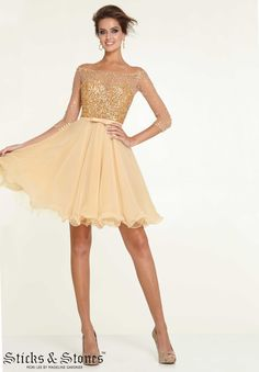 d600b79b50 Homecoming   Party  Cocktail   Dresses Style 9301  Beaded Net on Chiffon  http