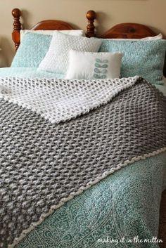 Making It In The Mitten: Crocheted Double-Sided Shell Blanket Pattern