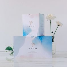 Watercolor packaging - Brand and Packaging Design for 'Azah Care' Sanitary Pads – Watercolor packaging Soap Packaging, Cosmetic Packaging, Beauty Packaging, Brand Packaging, Cosmetic Box, Sanitary Pads Brands, Paper Bag Design, Watercolor Branding, Sanitary Towels