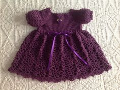 Hey, I found this really awesome Etsy listing at https://www.etsy.com/listing/221348753/newborn-to-3-months-crochet-baby-dress