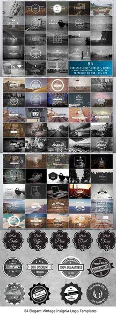 Elegant Vintage Insignia Logo Templates is a collection of premium blog, fashion, magazine style logo templates. Including 84 carefully designed vintage. via @creativetacos