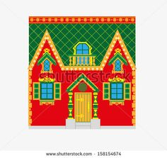 Russian home - stock vector