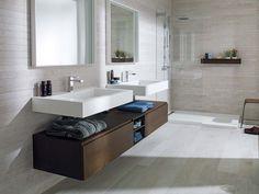 Krion bagno. Il KRION® è l'elemento fondamentale di quattro serie di prodotti proposte da Systempool per creare bagni attuali e molto pratici.