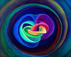 Artistic impression of a quantum-mechanical knot soliton