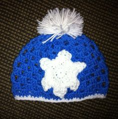 Crocheted snowflake hat