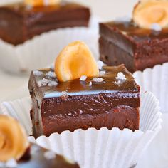 JULES FOOD...: Nutella Chocolate Fudge with Dark Chocolate Sea Salt Ganache