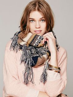 Free People Fairisle Print Infinity Scarf at Free People Clothing Boutique