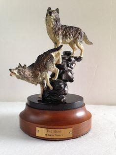 Wolf Sculpture  Wolf Figurine  The Hunt Greg by EightBoardsFarm, $50.00