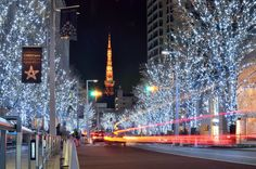 Tokyo Tower on Christmas Christmas Mantels, Christmas Tree, Christmas Wreaths, Christmas Decorations, All Over The World, Around The Worlds, Tokyo Tower, Christmas Traditions, All Things Christmas