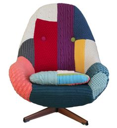 Where knitwear design and upcycling meets vintage furniture design – the inspirational Melanie Porter...