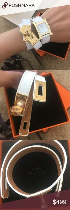 Hermes bracelet H,epsome new with box and everything!white gold color!original 510➕tax Hermes Jewelry Bracelets