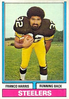 1974 topps football cards | on card franco harris card number 220 year 1974 set name 1974 topps ...
