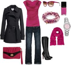 """""""pops of pink"""" by rknudsen on Polyvore"""
