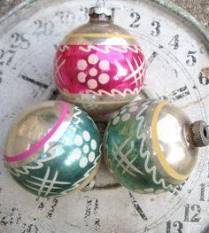Vintage Christmas Ornaments Glass Ornament Lot by PoemHouse, $20.00