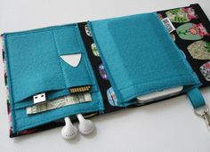gadget wallet at etsy (rockitbot)  beautiful fabrics, well-made, pretty accessories