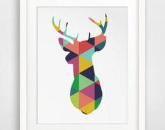 Flamingo Art Geometric Flamingo Printable por MelindaWoodDesigns