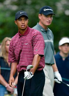 Tiger Woods and Ernie Els