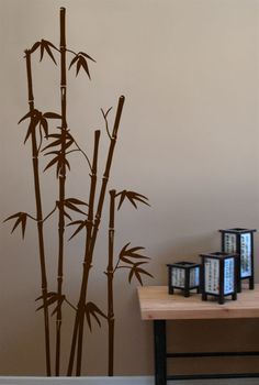 #autocollants #decalques #wallstickers #decals Bambou asiatique / Oriental bamboo. $34.95