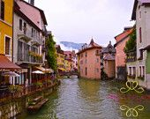 Instant Download, France, Annecy, Alps, Charming, Mountains, Lake, Print, Digital, Home Decor, Photograph, Fine Art
