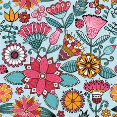 Summer patterns by Pridumala , via Behance