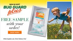 Free Avon Skin So Soft Bug Guard sample with your direct delivery order! While supplies last, use coupon code: BUGZAP http://www.youravon.com/rebeccabarton