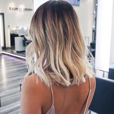 Root fade blonde