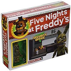 McFarlane Toys Five Nights At Freddy's Security Office with Springtrap Construction Set Continue to the product at the image link. (This is an affiliate link) Five Nights At Freddy's, Fnaf Lego Sets, Security Office, Freddy Toys, Toy Story, Freddy's Nightmares, Arcade Game Room, Cool Lego Creations, Anime Fnaf