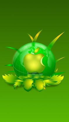 Green World Apple Apple Iphone Wallpaper Hd, Ipad Mini Wallpaper, Best Iphone Wallpapers, Cellphone Wallpaper, Mobile Wallpaper, Wallpaper Backgrounds, Green Wallpaper, Wallpaper Ideas, Mobile9