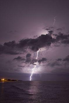 Photo by jedimind ~ Lightning from Atlantic Beach, NC